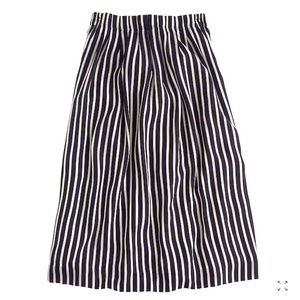J. Crew Skirts - Pleated Midi Skirt in Stripe